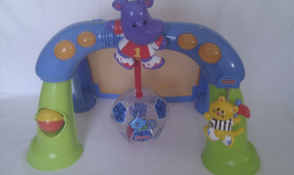 Adorable My 1st Fisher Price Activity Kick Football Baby Light up & Sound Play Gym